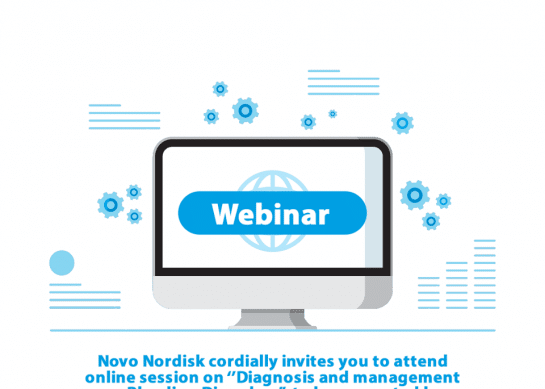 """Novo Nordisk cordially invites you to attend online session on ''Diagnosis and management on Bleeding Disorders"""" to be presented by Dr Saqib Hussain Ansari on 29 July 2020 at 2:20 pm."""